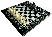 16 Inches Marble Game Table Top With Inlay Art Coffee Table For Kids Room Decor