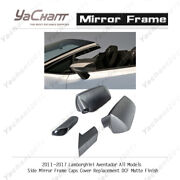 Dcf Matte Side Mirror Frame Caps Cover Replacement For 11-17 Aventador All Model