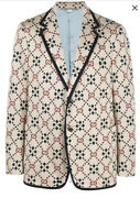 Gg Pattern Blazer Jacket-with Tags- Rrp3500 Aud