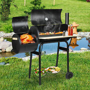 45inch Outdoor Bbq Grill Charcoal Barbecue Pit Patio Backyard Meat Cooker Smoker