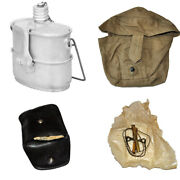 Soviet Airborne Russian Vdv Mess Kit Canteen Flask Army Pocket Saw W Bag Surplus