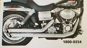 Samson Big Guns 3 Street Sweepers Exhaust System Chrome Fxd Dyna 06-07 1800-0254