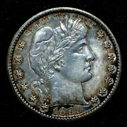 1899-s Barber Quarter ✪ Uncirculated Unc Details ✪ 25c Silver Bu Ms ◢trusted◣