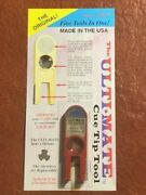 Ultimate Tip Tool Red. Comes With Free Replacement Abrasives. Pool Cue Care.
