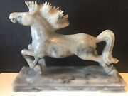 Vintage Chinese Carved Soapstone Horse Statue Independence Strength Zodiac
