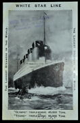 Picture Postcard ✪ Titanic ✪ White Star Line Ship Boat Steamers Olympic◢trusted◣