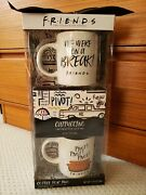 New Friends Tv Series Coffee For Two Gift Set - 2 Coffee Mugs And Latte Mix