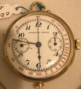 Universal Geneve Watch Vintage Gold 18 K Double Buttons 1935/1940