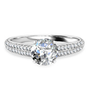 Round 1.52 Ct Real Diamond Engagement Ring For Womenand039s 950 Platinum Size 5 6 7 8