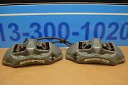 2017 W205 Mercedes C63 Amg Front Right And Left Brake Caliper Calipers Pair Grey
