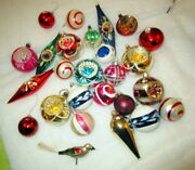 Old Christmas Tree Mercury Glass Ornaments With Bird