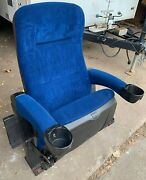 Lot 10 Used Home Theater Seating Rocker Cinema Movie Chairs Seats Blue Velvet