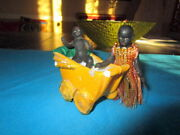 Antique Black African Bisque Dolls With Doll Carriage /germany