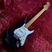 Used Fender Voodoo Stratocaster Black Electric Guitar Free Shipping