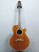 Takamine Ptu108k Natural Acoustic Guitar Used Free Shipping Made In Japan