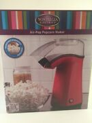 Nostalgia Air Pop Hot Air Popcorn Popper With Measuring And Butter Melting Cup