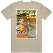 Peugeot French Bicycles 1900 Antique Retro Vintage Cycling Bikes T Shirt