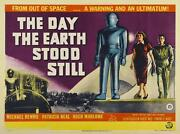Day The Earth Stood Still 1951 Film Canvas Wall Art Movie Poster Print Sci-fi