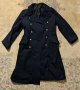 Nice Older East German Navy Winter Large Military Coat Jacket 48 Inches Tall 2