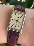 Jaeger Lecoultre Watch 160 012 5 Quartz Gold 18k And S/s Lady Swiss Made