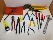 Lot Klein Tools Skinning Knife Cable Cutter Water Pump Pliers Linemanand039s Pliers