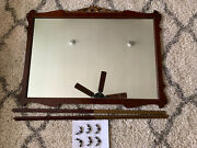 Antique 1900's French Influence 46x35 Dresser/ Wall Scallop Mirror And Hardware
