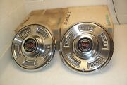 1967 67 Chevrolet Chevy Chevelle Malibu Ss Nos Wheel Covers/hubcaps Set-4 Gm