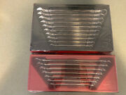 New Snap-on 17 Pc Long Flank Drive Plus 12-point Metric And Sae Combo Wrench Set