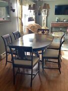 Antique Berkey And Gay Furniture Dining Set Table Chairs