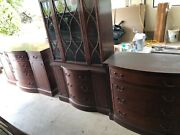 Antique Duncan Phyfe Mahogany Buffet Tables And China Cabinet