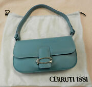Cerruti 1881 Leather Shoulder Bag Purse Small Vintage Made In Italy