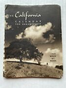 1947 Appointment And Calendar Organizer With Pictures Of California