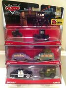 Disney Cars 2-pack Sheriff And Sarge/stanley And Lizzie/lost In Dessert Mini And Van
