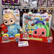 Cocomelon Musical Bedtime Jj Doll Plush And Doctor Checkup Case Set Bundle New