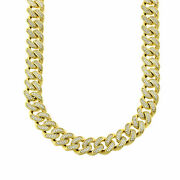 Hot Stainless Steel 18k Gold Plated Cz Micropave Set Bling Iced Miami Cuban 20mm
