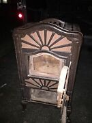 Antique Wood Stove Caloric Ornate Old