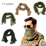 Cotton Scarf Military Camouflage Tactical Mesh Sniper Camping Hunting Face Veil