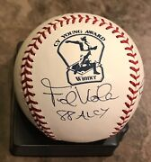 Frank Viola Jim Perry Signed Cy Young Logo Ball Autographed Baseball