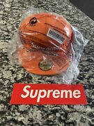 Supreme Windstopper New Era Hat 7 1/4 Orange Brand New With Tags And Sticker