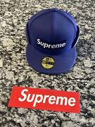 Supreme Windstopper New Era Hat 7 1/4 Navy Blue Brand New With Tags And Sticker