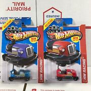 Hot Wheels 2013 New Model Bump Around Bumper Car Blue And Red Lot Of 2 78