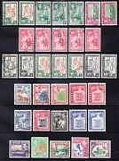 Fiji Gvi Sg249/226b Full Set + All Shades And Perfs F/u Total Cat 34 Stamps Andpound250