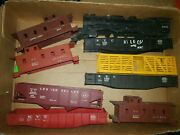 Lot Lionel Freight Cars And Engine Shell 2055 For Parts