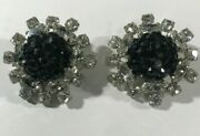 Vintage Clip On Earrings James Arpad Signed Costume Antique Jewellery
