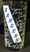 1950's New York Rangers Nhl Hockey Team Signed Lithographed Acl Drinking Glass