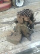 Vintage Briggs And Stratton Kick Start Engine, Motor,turns Over ,parts Or Repair