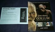 Andy Serkis Lord Of The Rings Book Gollum How We Made Movie Magic 1st Ed Rare