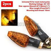 2x Carbon Motorcycle Led Turn Signals Blinkers Amber Light For Suzuki Boulevard