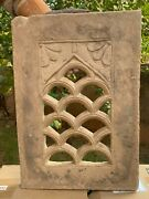 Antique Rare Stone Hand Carving Collectible Floral Jharokha Window Wall Panel
