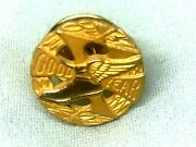 Vintage-goodyear 10 Year Employee Service Pin-gold Filled-1/10-winged Foot S